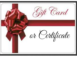 gift card or certificate